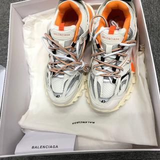 バレンシアガ(Balenciaga)の balenciaga track shoes 42 ホワイト オレンジ(スニーカー)