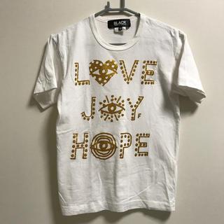 コムデギャルソン(COMME des GARCONS)のブラックコムデギャルソン 半袖Tシャツ 白×ゴールド S(Tシャツ/カットソー(半袖/袖なし))