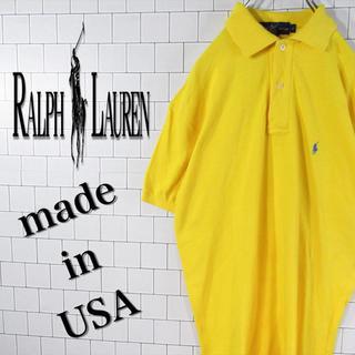 Ralph Lauren - 【USA製】激レア ラルフローレン 刺繍ロゴ ゆるだぼ  ポロシャツ 90s
