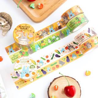 ジブリ - となりのトトロ マスキングテープ のはら柄 野菜柄 4巻セット