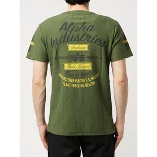 アルファインダストリーズ(ALPHA INDUSTRIES)の新品 定価4212円 ALPHA INDUSTRIES ヘリンボーン Tシャツ(Tシャツ/カットソー(半袖/袖なし))