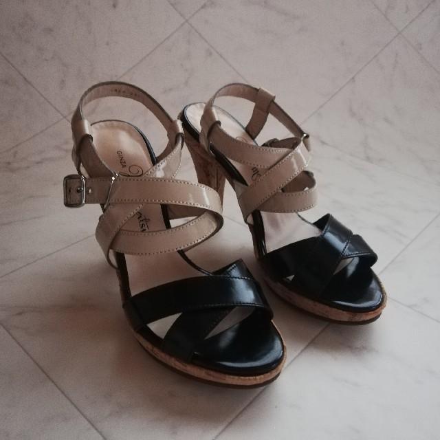 GINZA Kanematsu(ギンザカネマツ)の美品!!銀座かねまつ 本革サンダル 22.5cm  レディースの靴/シューズ(サンダル)の商品写真