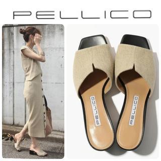 PELLICO - 19SS完売 新品 PELLICO リネン Vカット サンダル 定価51840円