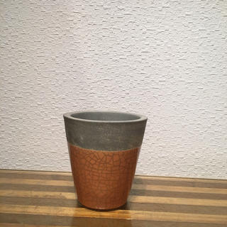 ● Conical POT - orange -  No.55(雑貨)