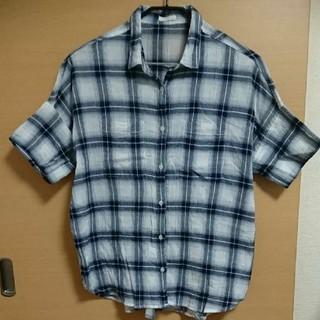 ジーユー(GU)のGU 半袖シャツ チェックシャツ(シャツ/ブラウス(半袖/袖なし))