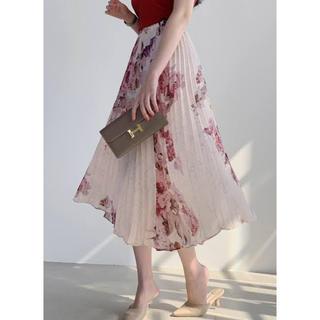 dholic - ローズパターンプリーツスカート