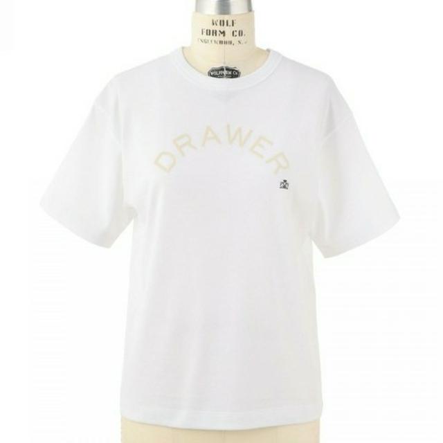 Drawer(ドゥロワー)の【新品未使用】2018SS Drawer 人気ロゴTシャツ ドゥロワー レディースのトップス(Tシャツ(半袖/袖なし))の商品写真