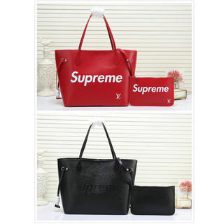 LOUIS VUITTON - LOUIS VUITTON×SUPREMEネヴァーフルMM トートバッグ