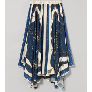 JEANASIS - JEANASIS ブルー アソートスカーフアシメスカート 新品未使用品