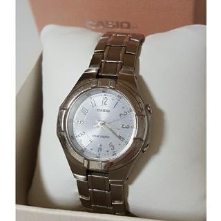 カシオ(CASIO)のCASIO カシオ 電波時計 ソーラー レディース wave ceptor (腕時計)