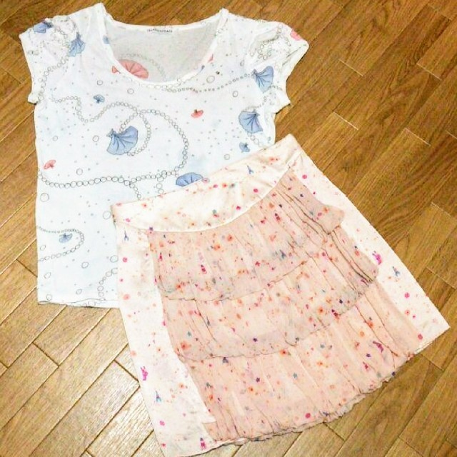 TSUMORI CHISATO(ツモリチサト)のtsumori chisato シフォン シルク レディースのスカート(ひざ丈スカート)の商品写真