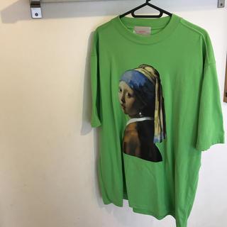 新品未使用送料込み 絵画プリントT ライトグリーン(Tシャツ(半袖/袖なし))