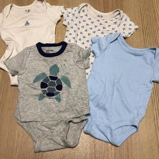 ベビーギャップ(babyGAP)のbaby gap ロンパースまとめ売り4枚セット 肌着 半袖(ロンパース)