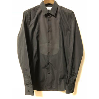 サンローラン(Saint Laurent)の新品 サンローランパリ プラストロン ドレス タキシード シャツ 37 セリーヌ(シャツ)