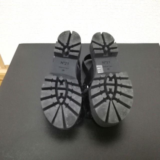 N°21(ヌメロヴェントゥーノ)のレディース 靴 N°21 ヌメロヴェントゥーノ サンダル ファー レディースの靴/シューズ(サンダル)の商品写真