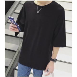 フリーサイズ メンズ ビックシルエット 大きめ Tシャツ 5分袖 (Tシャツ/カットソー(半袖/袖なし))
