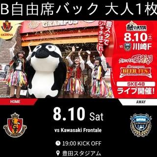 B自由席バック 大人1枚 名古屋グランパス vs 川崎フロンターレ(サッカー)