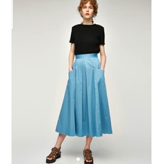 moussy - moussy TUCK FLARE SKIRT ロングフレアースカート