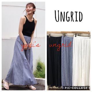 Ungrid -  Ungrid*パッチワークレースマキシスカート