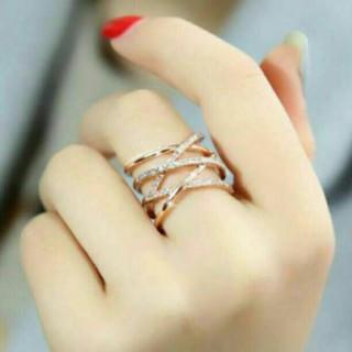 ☆即日発送☆編み込み デザインリング☆指輪 フリー☆プレゼント☆売れ筋(リング(指輪))
