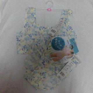 アツギ(Atsugi)の新品 アツギ ラフィ シームレス ブラ&ショーツ オフホワイト×花柄 Mサイズ(ブラ&ショーツセット)