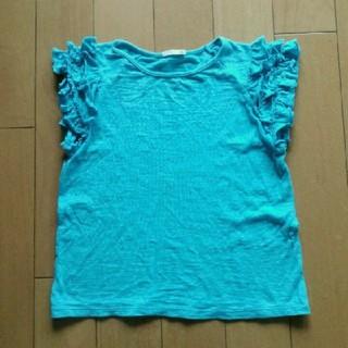 GU - 【美品♡送料無料】GU フリルTシャツ 130