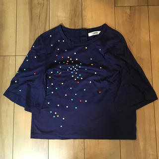 ファーファー(fur fur)のFURFUR トップス Tシャツ ネイビー(Tシャツ(半袖/袖なし))