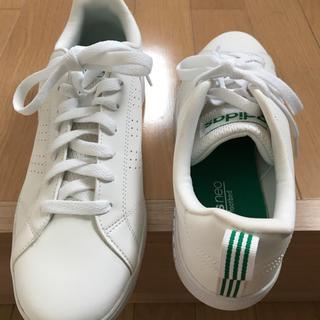 アディダス(adidas)のアディダス  ネオ NEO バルクリーンスニーカ  ホワイト/グリーン 27cm(スニーカー)
