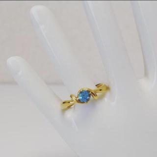 K18 ブルートパーズデザインリング(リング(指輪))