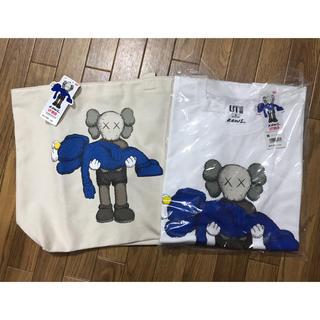 UNIQLO - UNIQLO×KAWS トートバッグ Tシャツ ユニクロ カウズ トート