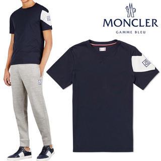 MONCLER - 新品未使用◆MONCLER◇ロゴ付きコットン半袖Tシャツ ネイビー S