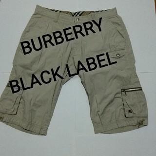 バーバリーブラックレーベル(BURBERRY BLACK LABEL)のBURBERRY BLACK LABEL ワンポイント ハーフパンツ ベージュ(ショートパンツ)