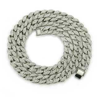 ブリンブリン シルバー ネックレス ジルコニア ヒップホップ チェーン50cm(ネックレス)