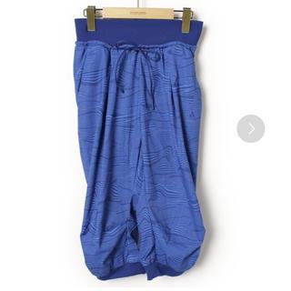 adidas - adidas クロップドパンツ ブルー