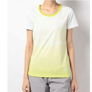 ルコックスポルティフ(le coq sportif)の美品!ルコック スポーツウェア Tシャツ 半袖 イエロー S 吸湿速乾UVカット(ウェア)