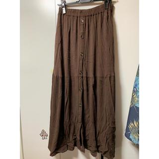 しまむら - しまむら フロントボタンロングスカート