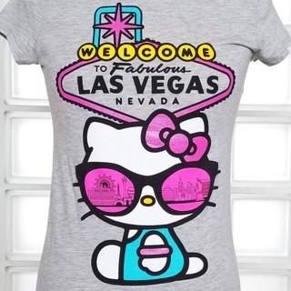 ハローキティ(ハローキティ)のラスベガスハローキティ グレーTシャツ新品(Tシャツ(半袖/袖なし))