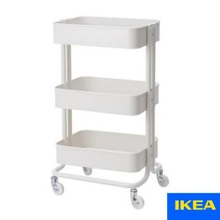 イケア(IKEA)のIKEA キャスター付きワゴン RASKOG 白(キッチン収納)