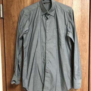 GU - GU グレイドットワイシャツSサイズ
