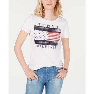 TOMMY HILFIGER - トミーヒルフィガー/フラグロゴが可愛い!半袖Tシャツ
