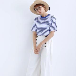 メルロー(merlot)のSAKANAロゴボーダー柄カットソー(カットソー(半袖/袖なし))