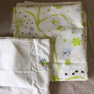 イケア(IKEA)のIKEA 子供用 未使用☆掛け布団カバー&枕カバー(シーツ/カバー)