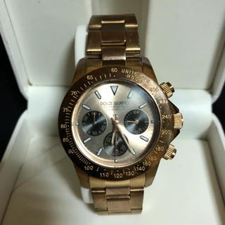 DOLCE&GABBANA - 一流ブランドDOLCEのゴールドメンズ腕時計です。スピードウォッチ、金が剥げない