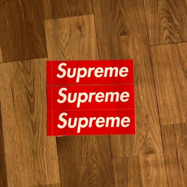 Supreme(シュプリーム)のSupreme Box logo ステッカー 3枚    自動車/バイクのバイク(ステッカー)の商品写真