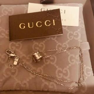 Gucci - 正規品GUCCI グッチ k18ホワイトゴールドネックレス