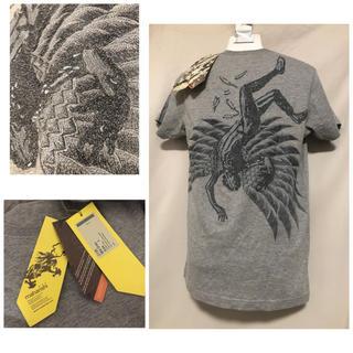 MAHARISHI - 定価1万9440円 MAIARISHI マハリシ 刺繍Tシャツ S グレー