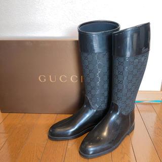 Gucci - グッチ確実正規品 レインブーツ38サイズ