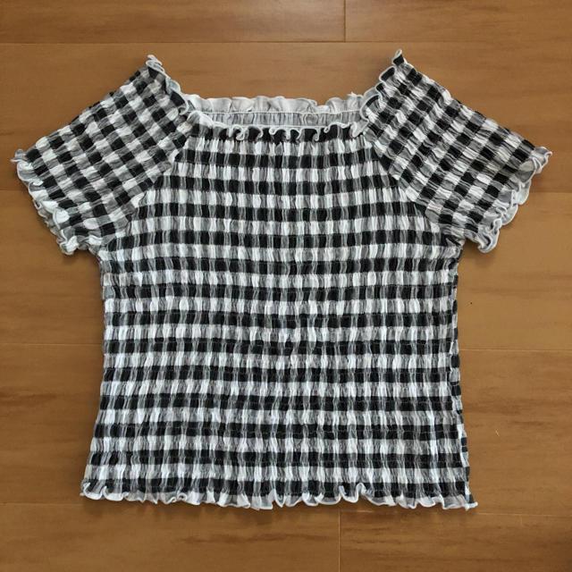 GU(ジーユー)のギンガムチェック 2way   レディースのトップス(シャツ/ブラウス(半袖/袖なし))の商品写真