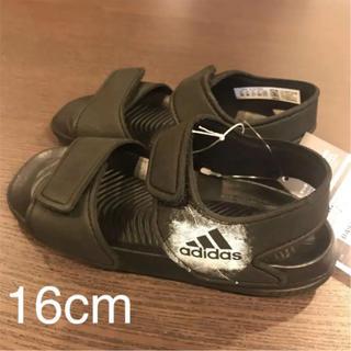 adidas - 【新品★タグ付き】adidas サンダル 黒 16cm