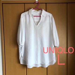 UNIQLO - ユニクロ☆リネンコットン  チュニック  L